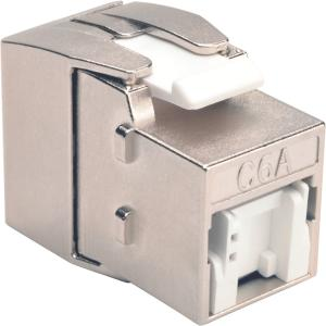 Tripp Lite Toolless Cat6a Keystone Jack, Gray