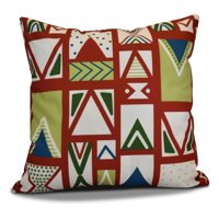 E by Design Jump For Joy Merry Susan Print Outdoor Pillow