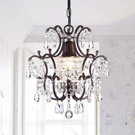 The Lighting Store Clear Crystal Brown Base Mini Chandelier