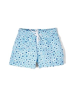 d4fdc4600f Product Image Azul Little Girls Blue Flower Print Drawstring Dreamy Daisies  Swim Shorts