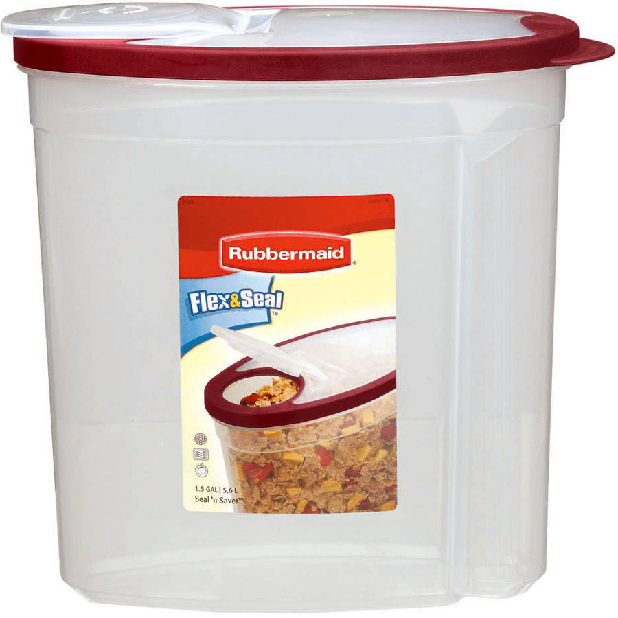 Rubbermaid Flex and Seal Cereal Keeper, Modular Food Storage Container, 1.5 Gal