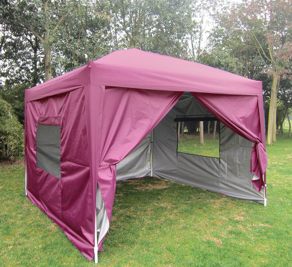 Big Sale!Quictent privacy 10x10 Mesh Curtain EZ Pop Up Party Tent Canopy Gazebo 100% Waterproof-7 Colors (Pink) by