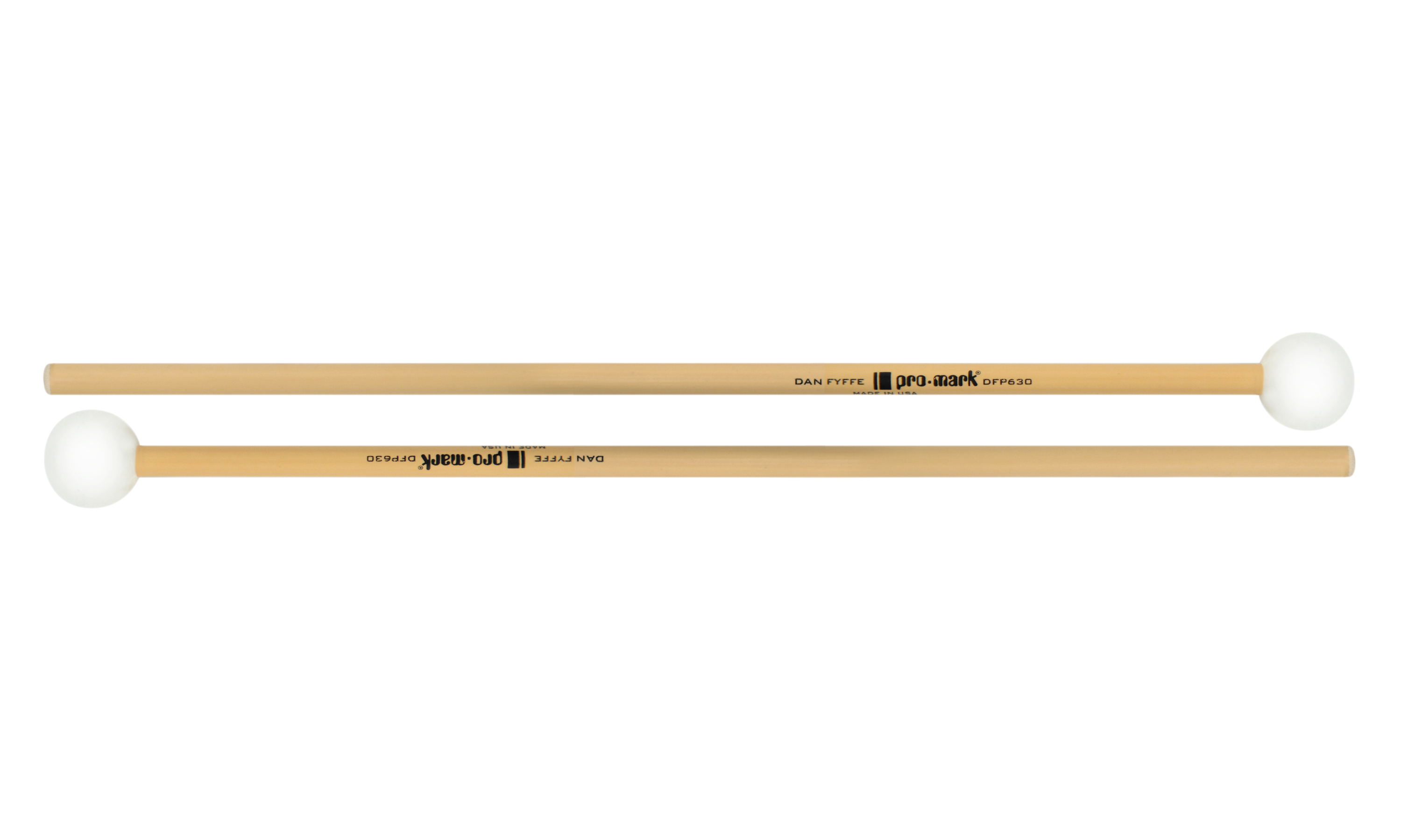 Promark Dan Fyffe Xylo Bells Series Rattan Poly Ball Mallets by ProMark