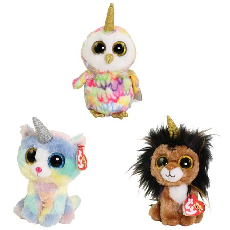 TY Beanie Boos - SET of 3 UNI ANIMALS (Regular Size - 6 inch) (Heather, Ramsey & - Uni Plush