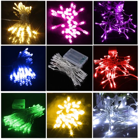 3.3ft 10 LED Christmas Xmas String Fairy Wedding Curtain Light For Festival Party Living Room Bedroom](Fairy Festivals)