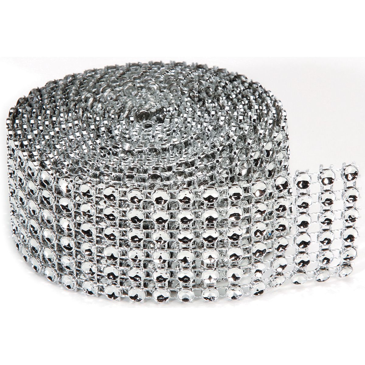 Darice Bling On A Roll, 4mm x 2 yds, 6 Row, Silver