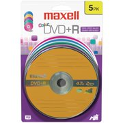 Maxell 639031 4.7gb 120-minute Dvd+rs (5 Pk; Color Carded)