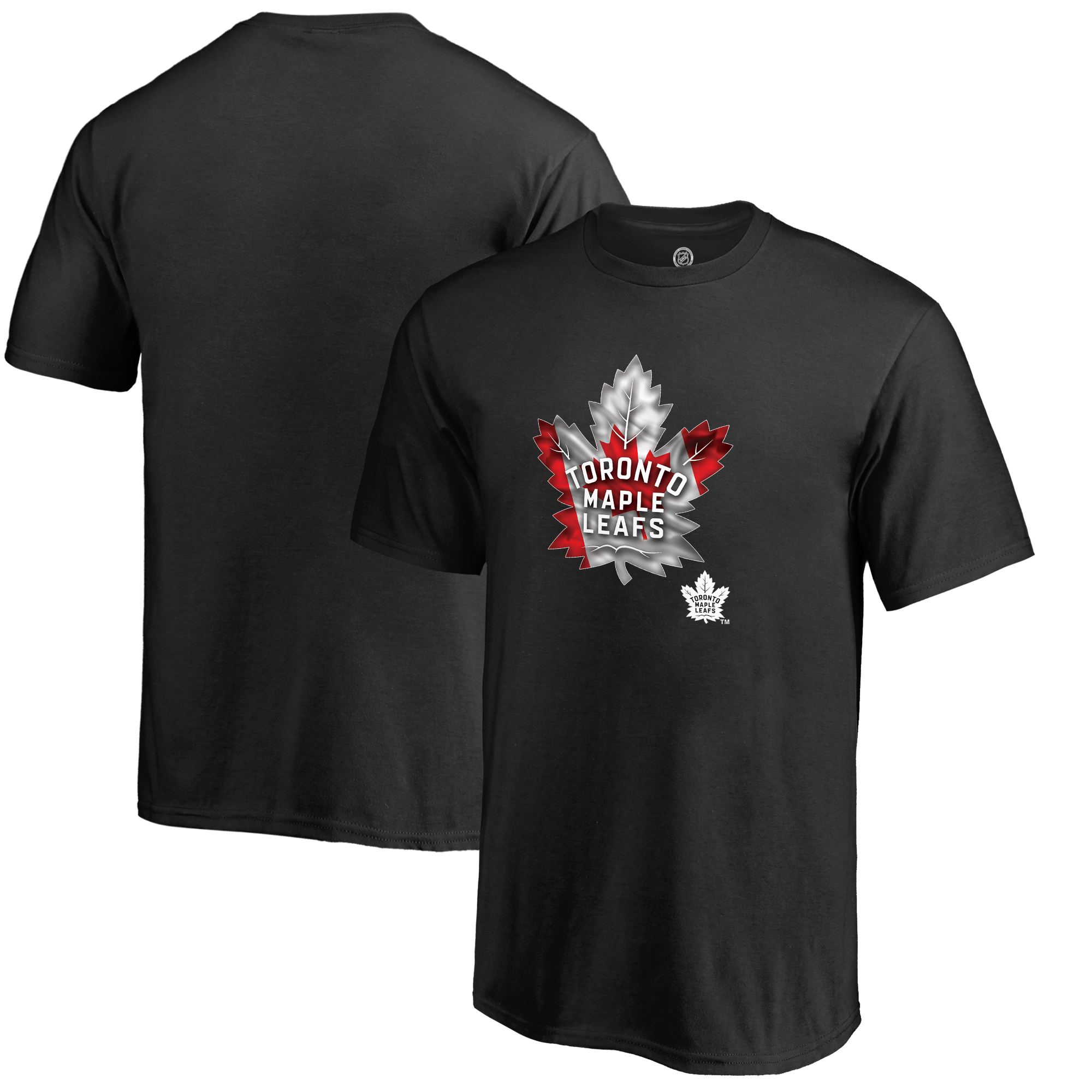 Toronto Maple Leafs Youth Banner Wave T-Shirt - Black