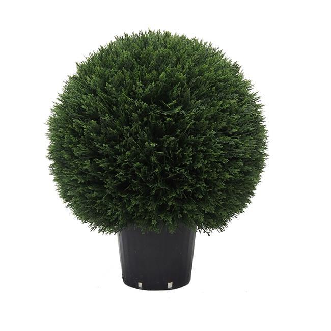 UV Cedar Ball Everyday Topiary in Pot - 24 in.