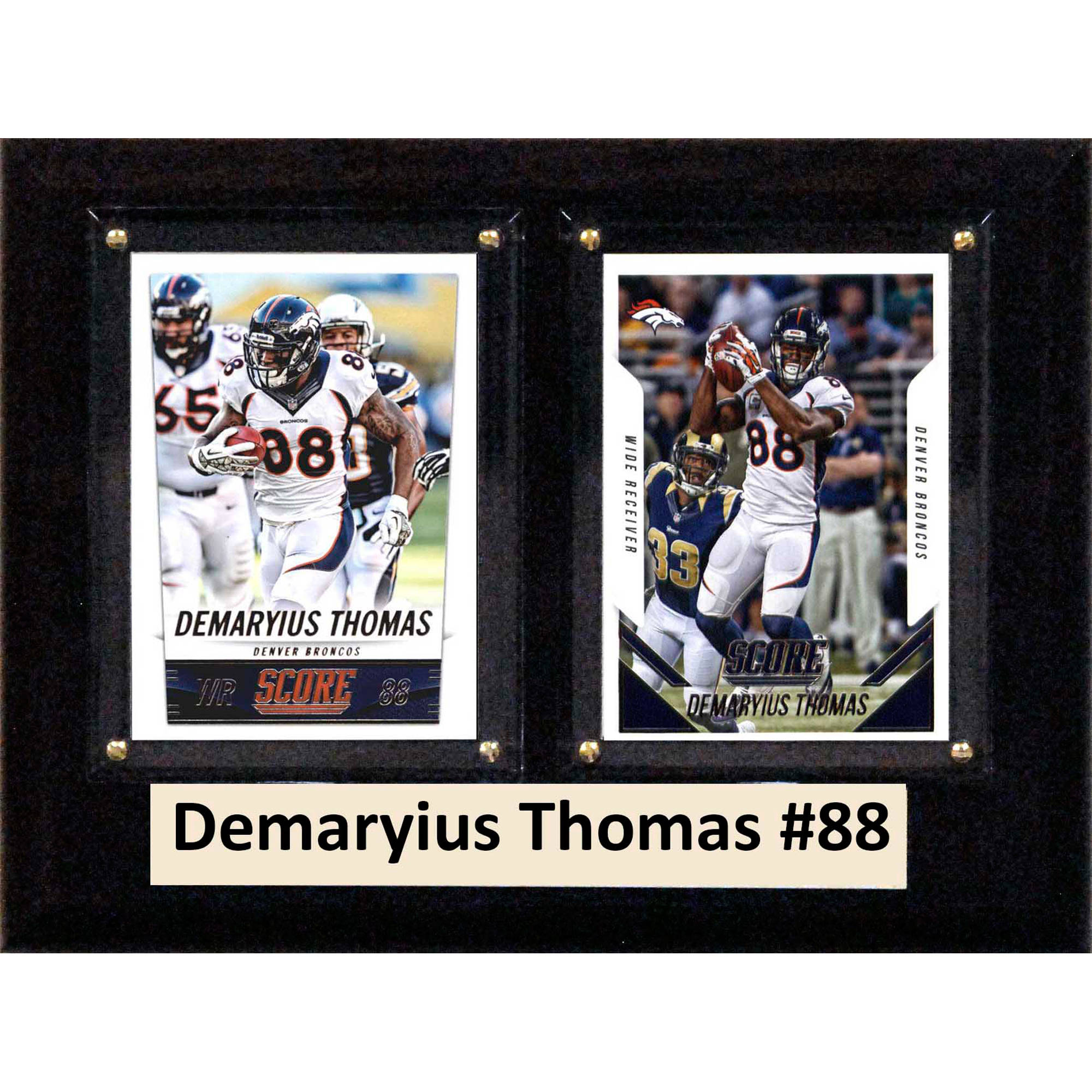 C&I Collectables NFL 6x8 Demaryius Thomas Denver Broncos 2-Card Plaque