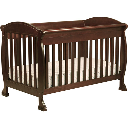 DaVinci Jacob 4-in-1 Fixed-Side Convertible Crib with Toddler Rail, Espresso