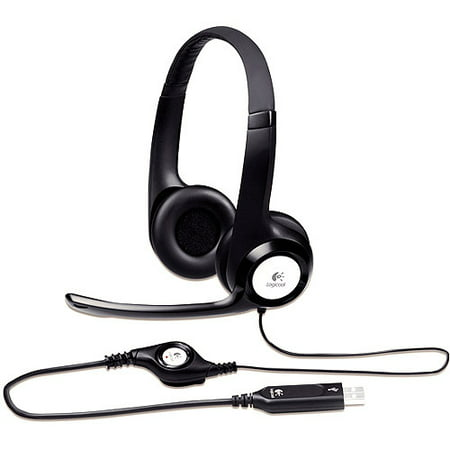 Logitech H390 USB ClearChat Headset with Noise Cancelling Microphone ()