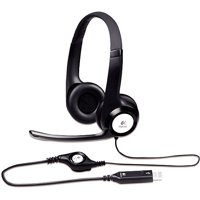 Logitech H390 USB ClearChat Headset with Noise Cancelling Microphone