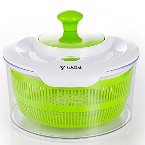 Large Salad Spinner with 5.0 Quart Bowl, Plus Extra Stora...
