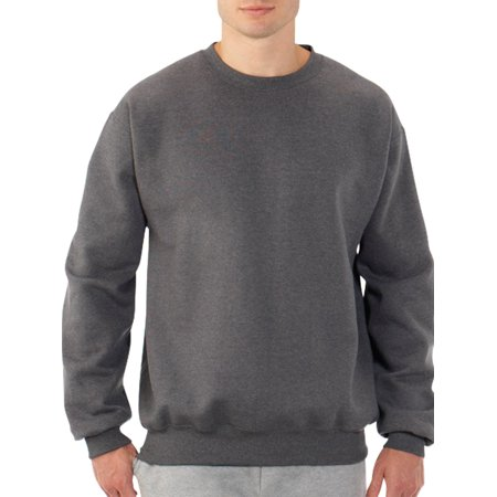 Fruit of the Loom Mens and Big Mens Eversoft Fleece Crew Sweatshirt, up to Size 4XL