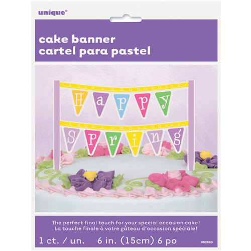 Happy Spring Cake Bunting Topper