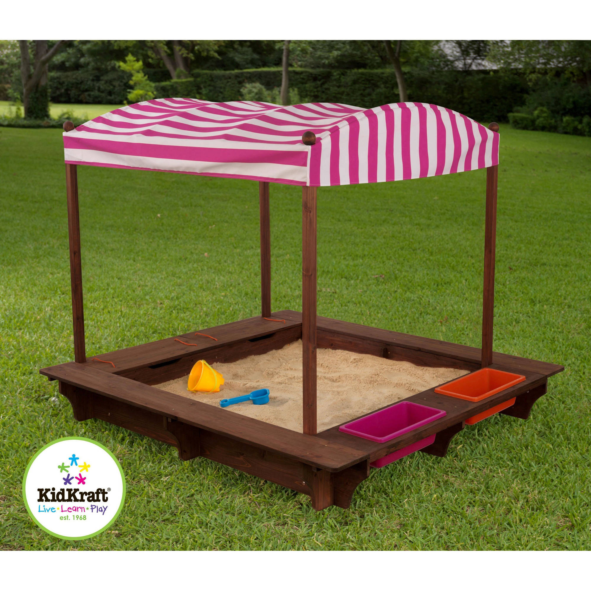 Awesome KidKraft Outdoor Sandbox With Canopy, Pink And White   Walmart.com