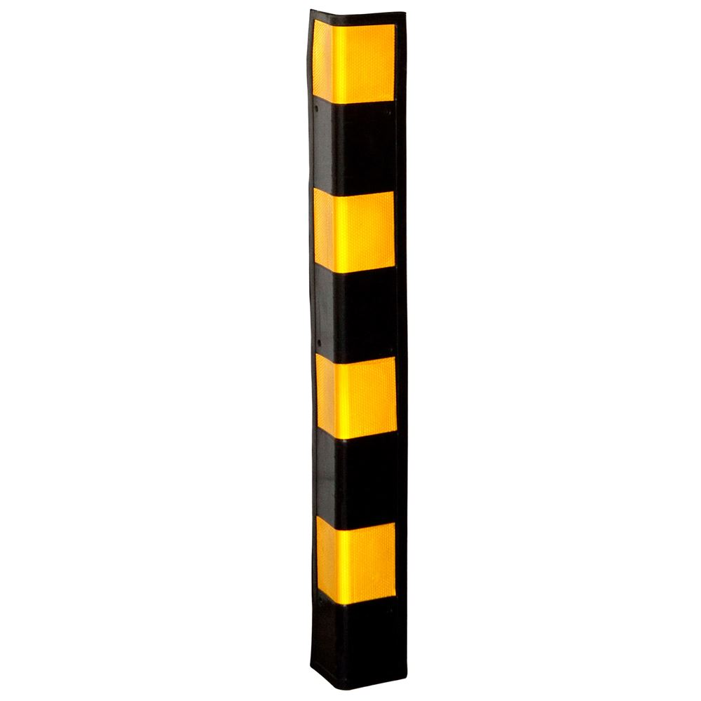 "Click here to buy 34"" Rubber Wall Corner Guard for Parking Garages & Warehouses by Guardian."