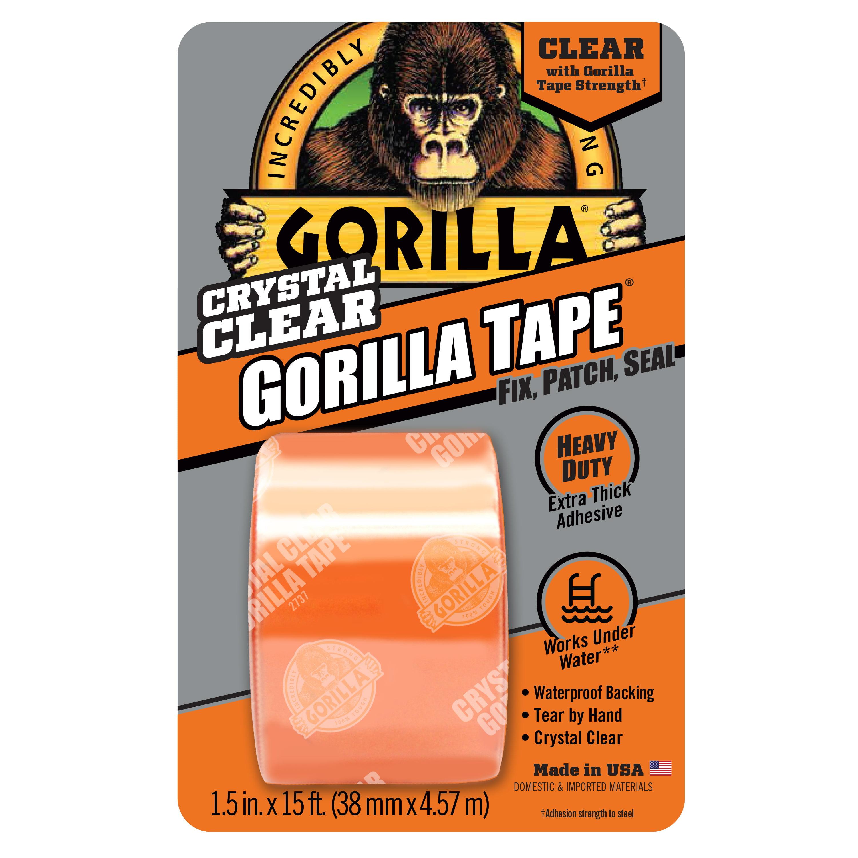 Gorilla Crystal Clear Gorilla Tape- 5yd