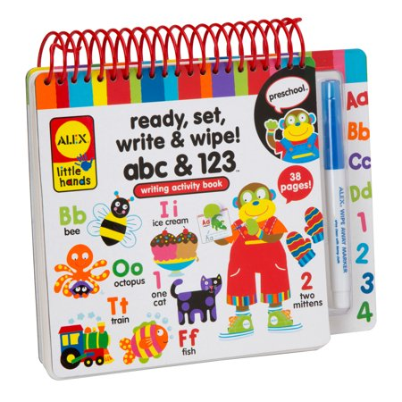 Alex Toys Little Hands Ready  Set  Write And Wipe  Abc And 123