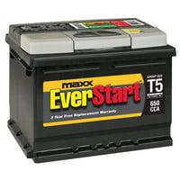 EverStart Maxx Lead Acid Automotive Battery, Group Size T5 (12 Volt/650 CCA)