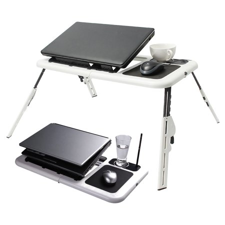 Folding Laptop Notebook Table Stand Tray Laptop Tray Desk With USB Cooling Fans For Sofa Bed Carpet Lawn - image 4 de 10