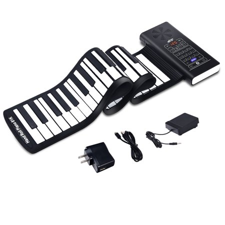 61 Key Electronic Roll Up Piano Keyboard Silicone Rechargeable Bluetooth
