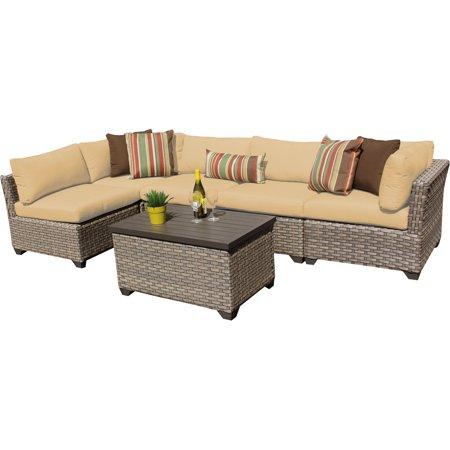 Hampton 6 Piece Outdoor Wicker Patio Furniture Set 06a ()