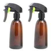 2Pcs Empty PET Amber Spray Bottles, 7oz Refillable Container for Essential Oils, Cleaning Products, or Aromatherapy for Home, Hairdressing, Garden, Durable Trigger Sprayer With Mist Settings