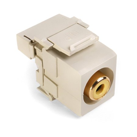 Quickport Snap In - Leviton 40735-RYI Ivory RCA-110 QuickPort Snap-in Connector
