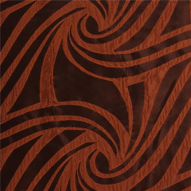 10-VORTEX-COPPER-BLACK Vortex Decorative Fabric - Copper & Black, 25 yards