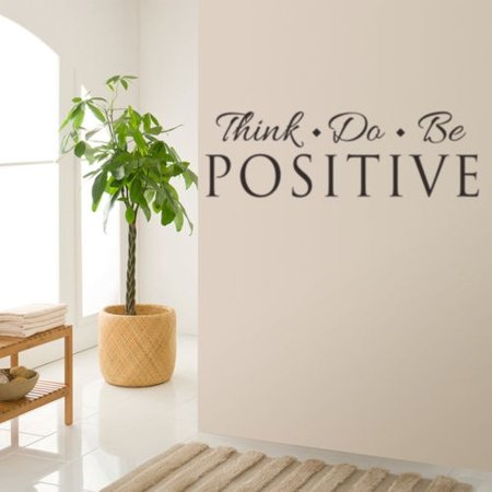 57X18CM Think Do Be Positive Vinyl Quote Wall Sticker Words Decals Home Decor Removable DIY For Living Room