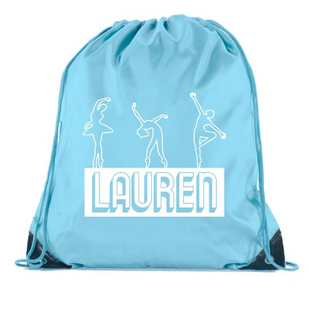 Personalized Drawstring Bag - Custom Dance Bags, Ballet Drawstring Backpacks, Personalized Dance Backpacks for Girls