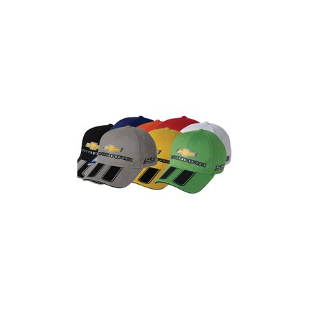 Eckler's Premier  Products 33-304169 Camaro Cap, Silver, With Rally (Center Rally Stripes)