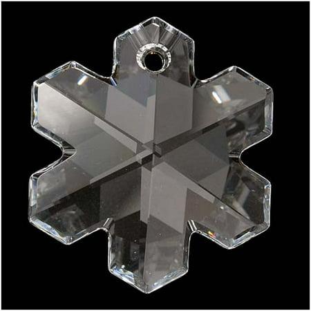 Swarovski Crystal, #6704 Snowflake Pendant 25mm, 1 Piece, Crystal