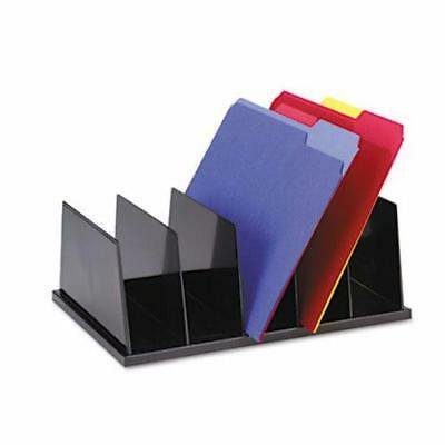Universal Large Desktop Sorter, Five Sections, Plastic, Black - Large Desktop Sorter
