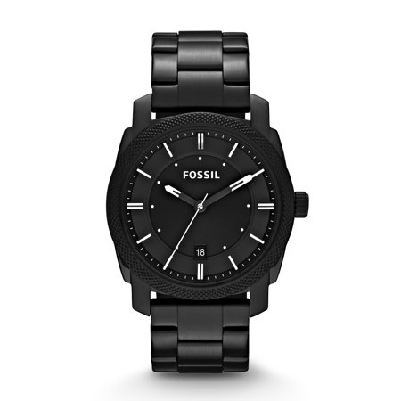 Men's Machine Black Stainless Steel Watch (Style: (Fossil Men Watch)