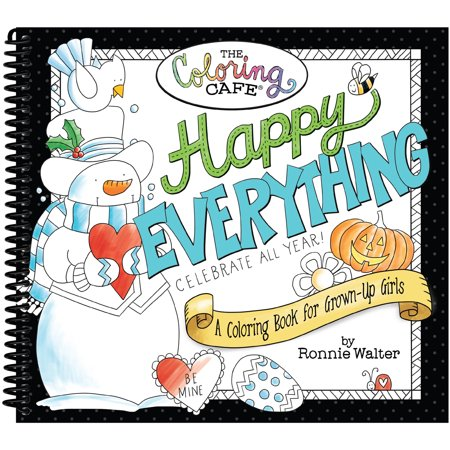 The Coloring Cafe Book Happy Everything