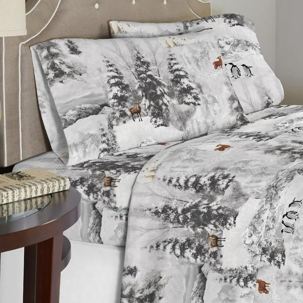 Celeste Home 190 Gsm Cal King Cotton Flannel Sheet Set Walmart Com Walmart Com