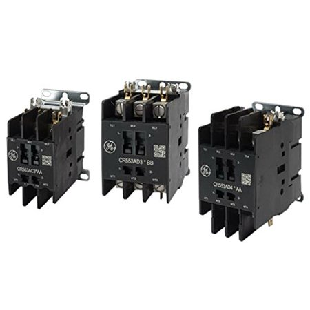 GE Industrial CR553AD2ABB 2 Pole Open Type CR553 Series Full Voltage Definite Purpose Contactor 40 Amp 115 - 120 Volt AC 2 Pole Contactor Type