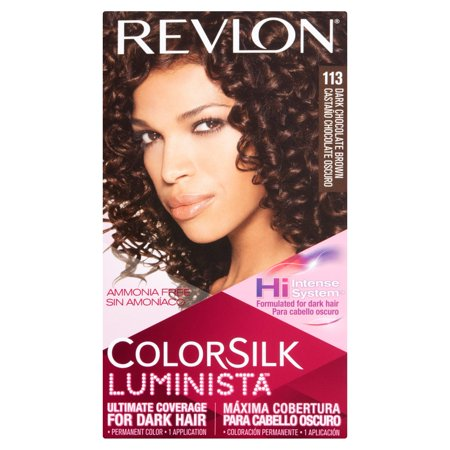 Revlon ColorSilk Luminista 113 Dark Chocolate Brown Permanent Hair Color, 1 application