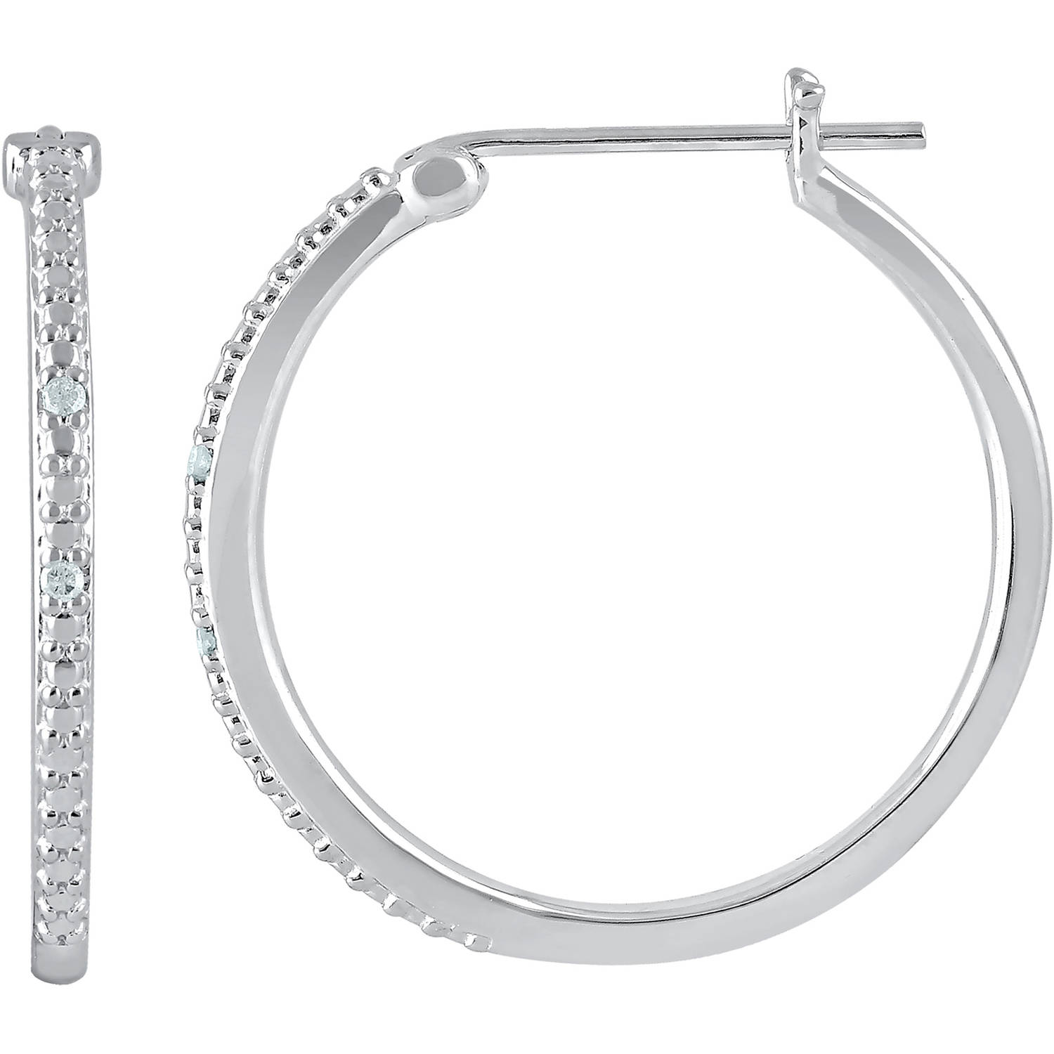 in fashion new arrivals sterling earrings silver products diamond accent hoop collections