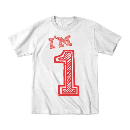 424df3e7 Donkeytees - I'm 1 Birthday 6 Months White Infant T-Shirt - Walmart.com