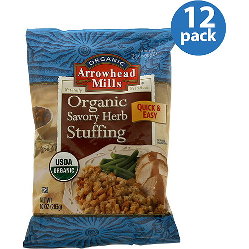 Arrowhead Mills Organic Savory Herb Stuffing Mix, 10 oz, (Pack of 12)