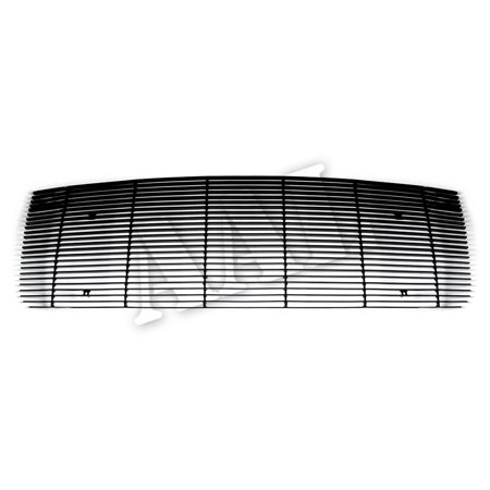 AAL BLACK BILLET GRILLE / GRILL INSERT For 2007 2008 2009 2010 2011 2012 2013 GMC SIERRA 1500 NEW BODY STYLE (LOGO COVERED) 1PC UPPER BOLTON(Black)