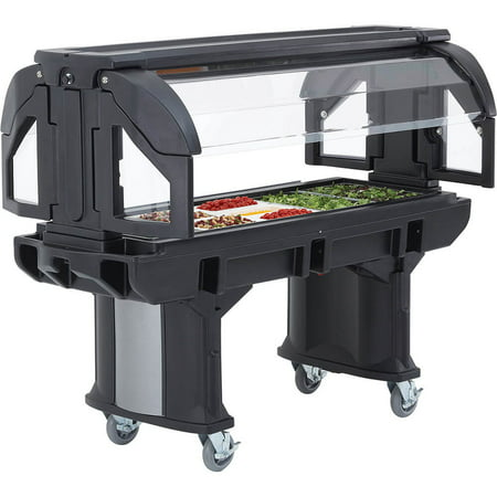 Salad Bar (Cambro 6 Ft. Portable Food / Salad Bar with Casters, Black, VBR6-110 )