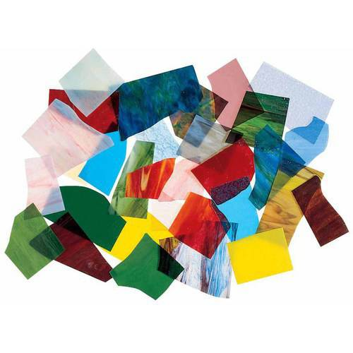 """School Specialty Stained Opalescent and Cathedral Glass Assortment, 0.5"""" x 1"""" to 3"""" x 3"""", 30 Pound"""