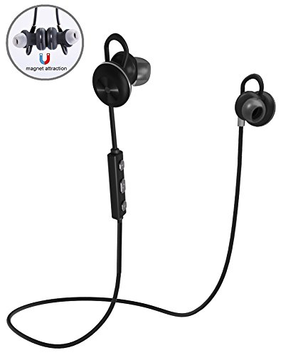 iPhone 5S Bluetooth Earbuds Ultra Lightweight 4.1 Wireless In-Ear Running Earbuds IPX4 Water Resistant with Mic Stereo Earphones, CVC 6.0 Noise Cancellation, works with, Samsung, Google Pixel, LG, HTC