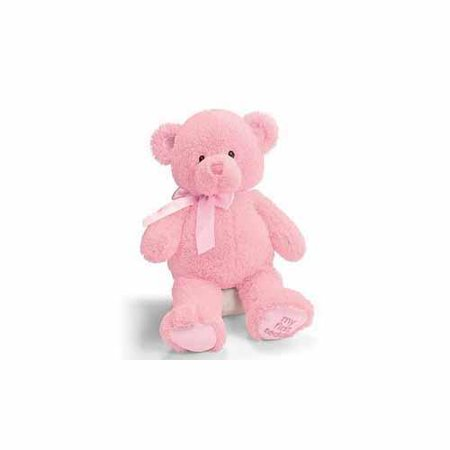 GUND 021029 My First Teddy Medium Pink Plush Bear