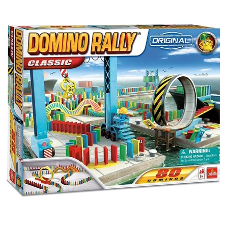 Domino Rally Classic   Dominoes For Kids   Stem Based Domino Set For Kids  Colorful Stacking Premium 110 255Piece Favors 200Piece Development Racing Wonders    By Goliath Games Ship From Us